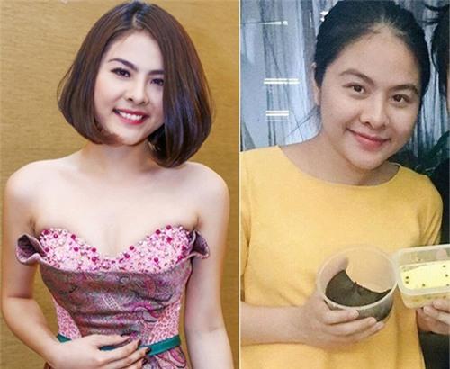 Vân Trang xuống sắc thấy rõ sau khi mang bầu.