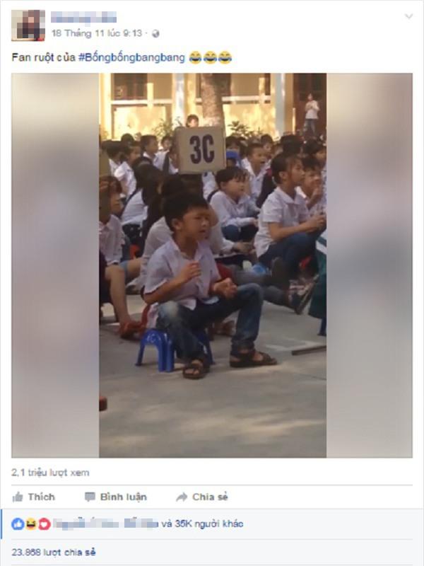 Phát sốt với cậu nhóc fan cuồng Bống bống bang bang hút triệu lượt xem - Ảnh 2.