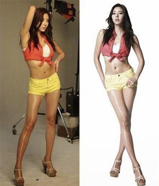 Xem Photoshop đã giúp sao Hàn vịt hoá thiên nga như thế nào - Ảnh 2.