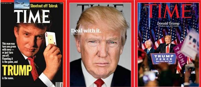 Ông Trump từng nhiều lần là nhân vật trang bìa của Time. (Ảnh: Time)