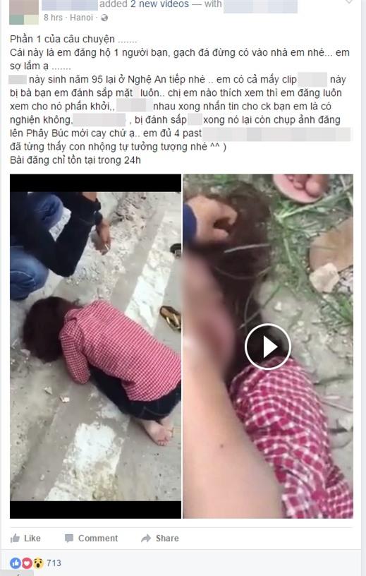 Nhắn tin thách thức vợ của người tình, cô gái trẻ bị đánh tơi tả, phải quỳ gối xin lỗi - Ảnh 1.