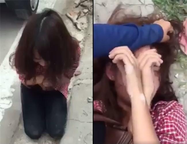 Nhắn tin thách thức vợ của người tình, cô gái trẻ bị đánh tơi tả, phải quỳ gối xin lỗi - Ảnh 2.