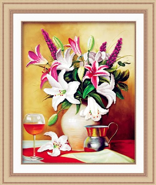 4 loai tranh theu chu thap don tet can luu y  khi treo keo ruoc hoa vao than - 5
