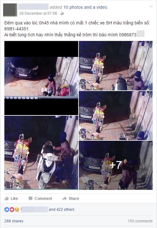 Clip: Đột nhập vào nhà dắt trộm SH, nam thanh niên giơ tay khiêu khích chủ xe qua camera - Ảnh 1.
