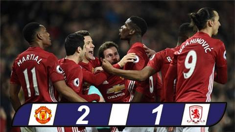 Pogba ghi bàn ấn định chiến thắng, M.U áp sát Top 5