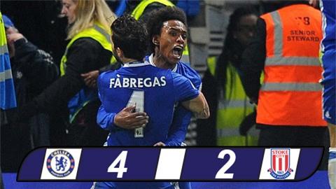Vùi dập Stoke, Chelsea thắng trận thứ 13 liên tiếp