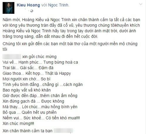 Tỷ phú Hoàng Kiều làm thơ ngôn tình về cuộc tình với Ngọc Trinh - Ảnh 3.