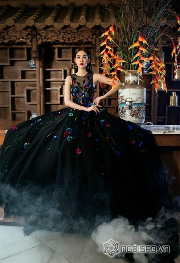 hoa hậu đặng thu thảo diện váy hoa 3