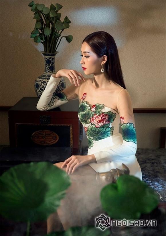 hoa hậu đặng thu thảo diện váy hoa 5