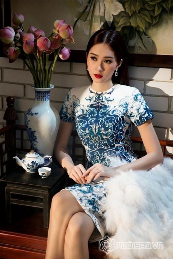 hoa hậu đặng thu thảo diện váy hoa 6