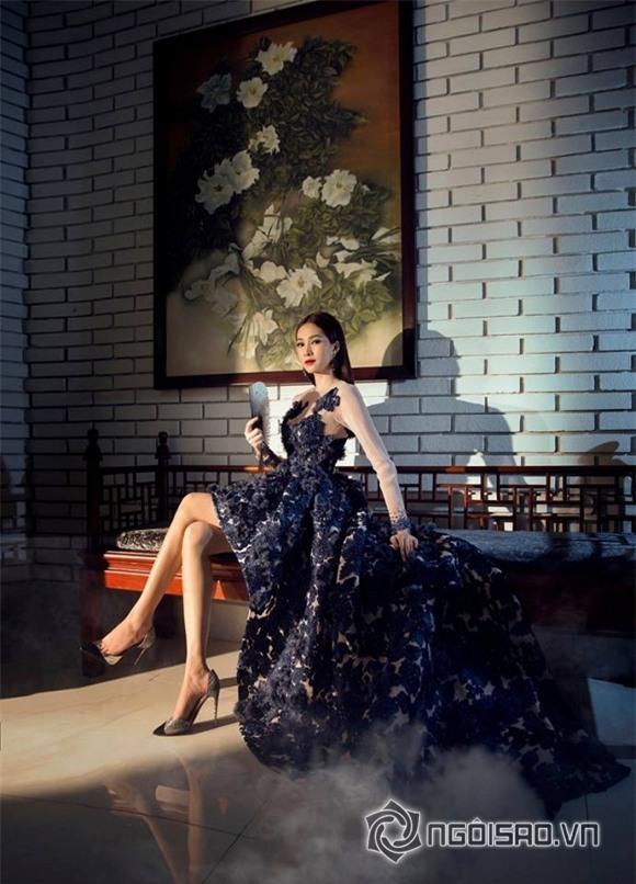 hoa hậu đặng thu thảo diện váy hoa 8