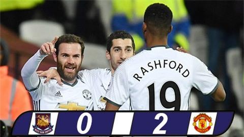 M.U thắng nhọc West Ham trong thế hơn người