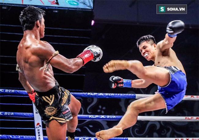 """Thánh Muay Thái đánh võ sĩ Trung Quốc """"lăn như bi"""" ngay trên đất khách - Ảnh 2."""