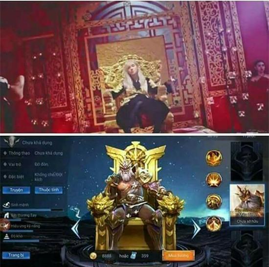 Có lẽ nào, hình ảnh vị vua ngồi cai trị trên ngai vàng của Sơn Tùng là xuất phát từ game online?