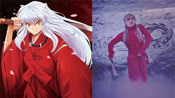 Ngay cả Inuyasha cũng bị lôi vào cuộc tìm kiếm nguồn gốc của Lạc trôi với màu trang phục, màu tóc khá giống.