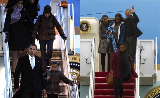 Lần cuối cùng, gia đình Tổng thống Barack Obama trở về sau kỳ nghỉ bằng chuyên cơ Air Force One - Ảnh 3.