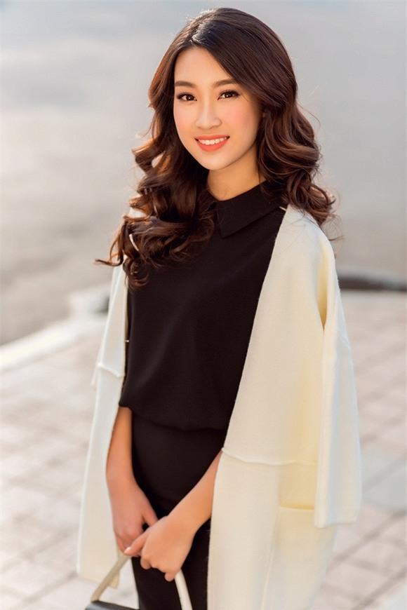 Hoa hậu Mỹ Linh xuống phố 5