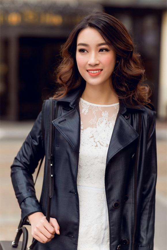 Hoa hậu Mỹ Linh xuống phố 6