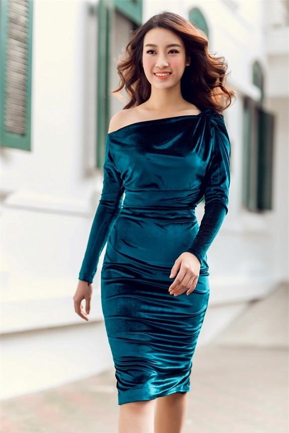 Hoa hậu Mỹ Linh xuống phố 4