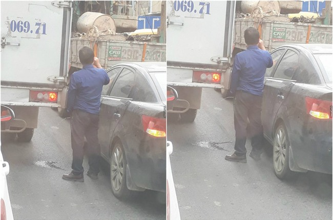 Tắc đường, tài xế dừng xe và có hành động khiến tất cả bất bình - Ảnh 2.