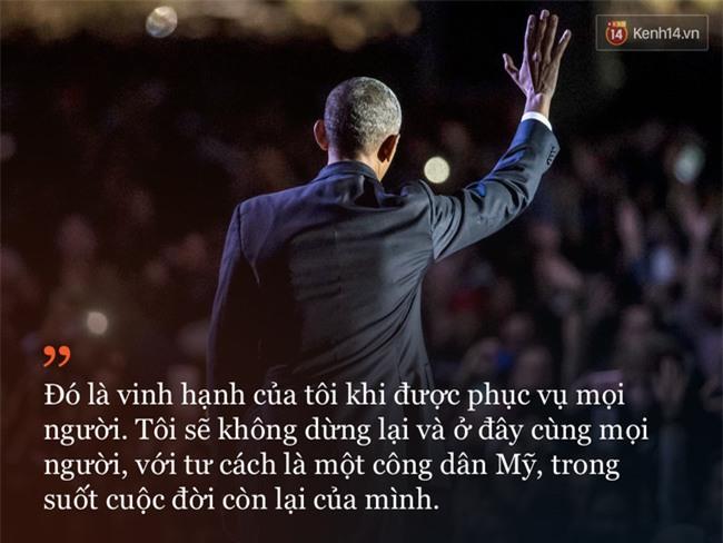 9 câu nói ấn tượng trong bài phát biểu cuối cùng khép lại hành trình 8 năm của Tổng thống Barack Obama với nước Mỹ - Ảnh 8.