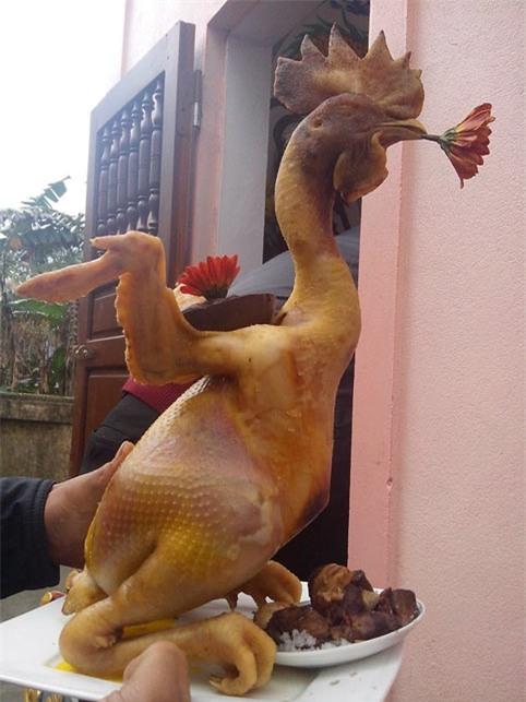 Nếu thay gà bằng những vật khác thì nó không còn mang ý nghĩa văn hóa