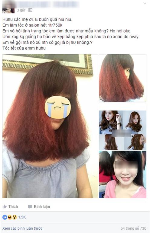 Tốn gần 2 triệu làm tóc xoăn ăn Tết, cô gái đau đớn nhận được quả đầu xù như... râu ngô - Ảnh 1.