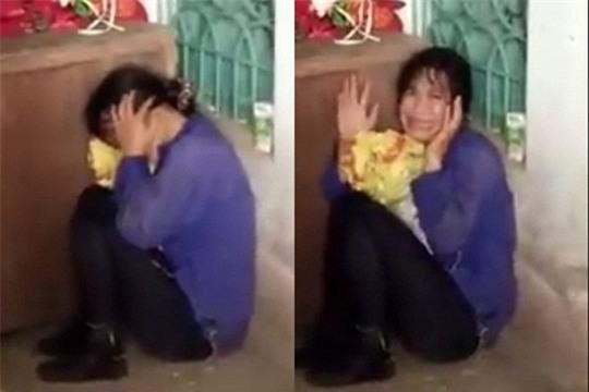 Người phụ nữ nghi bắt cóc trẻ em ở huyện Vĩnh Bảo có biểu hiện thần kinh không ổn định (ảnh cắt từ clip)