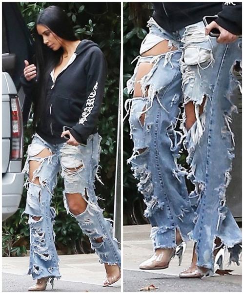 jeans roi vao tay kim kardashian tro thanh nhung mot kho coi nhat qua dat - 2