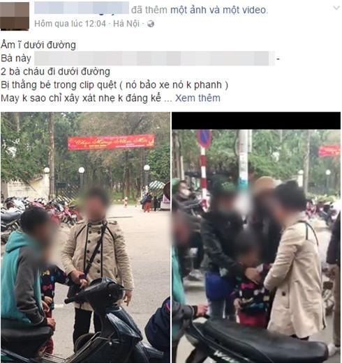Va quệt trên đường phố Hà Nội, người phụ nữ mắng chửi ầm ĩ vì nghi cậu bé muốn... đâm chết mình - Ảnh 1.