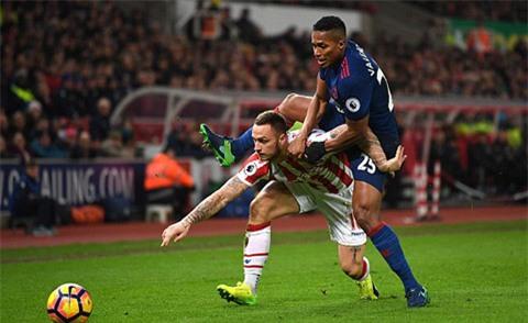 M.U đã gặp vô số khó khăn khi phải làm khách trước Stoke