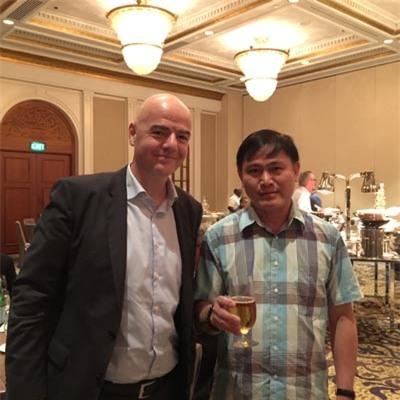 Chủ tịch FIFA Gianni Infantino và ông bầu Trần Anh Tú