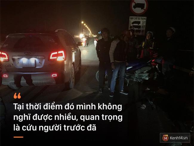 Câu chuyện cứu người gặp tai nạn đêm cuối năm: Chỉ cần một người tốt chịu hành động giữa đám đông e ngại - Ảnh 4.