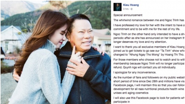 Ong Hoang Kieu: 'Ngoc Trinh khong xung voi tinh yeu cua toi' hinh anh 1