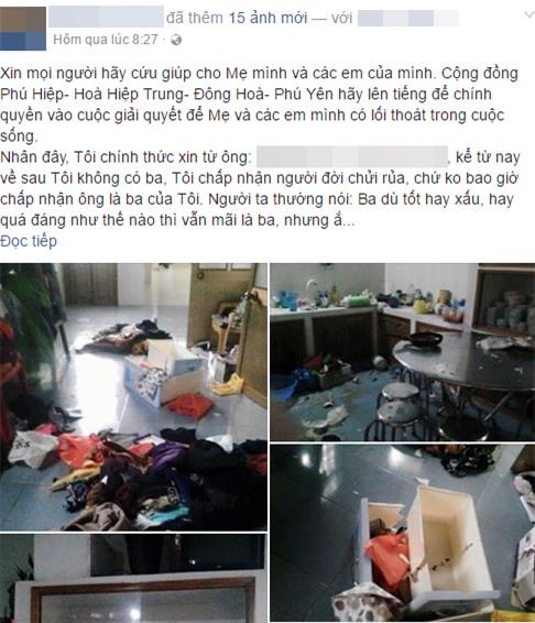 Tâm sự đẫm nước mắt của cô gái lên facebook kêu cứu cho mẹ và các em mình thoát khỏi sự hành hạ của cha - Ảnh 1.