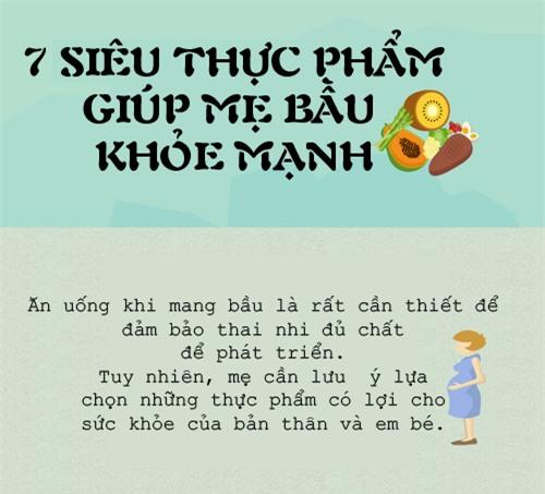 nhung sieu thuc pham da duoc chung minh la tot nhat cho thai nhi - 1