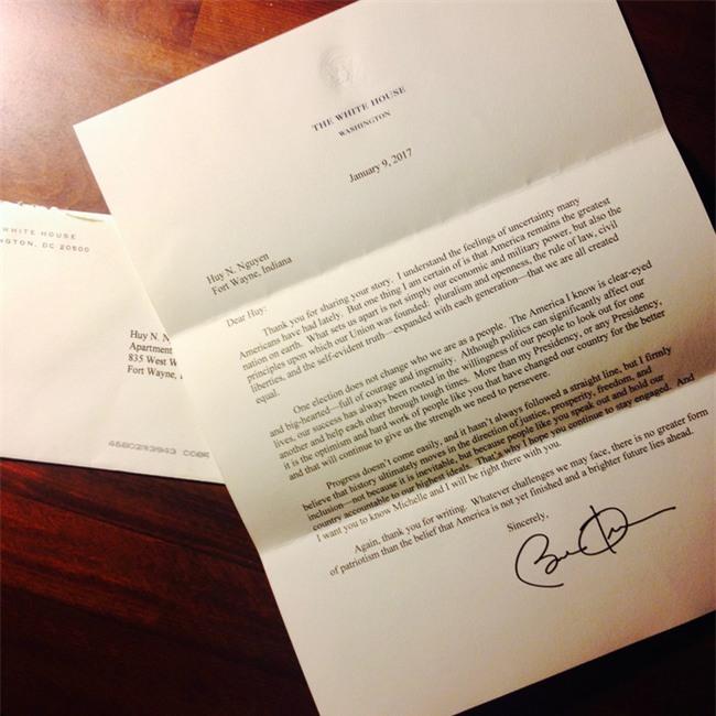 Chàng kiến trúc sư Việt nhận được thư hồi đáp của cựu Tổng thống Mỹ Barack Obama - Ảnh 2.