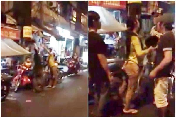 Chồng tát vợ trước mặt con nhỏ bị người đàn ông tức giận xông vào đánh giữa phố - Ảnh 1.
