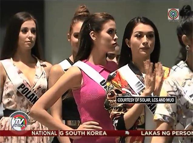 Clip: Lệ Hằng cùng dàn thí sinh Hoa hậu Hoàn vũ 2016 tập luyện chuẩn bị cho bán kết - Ảnh 2.