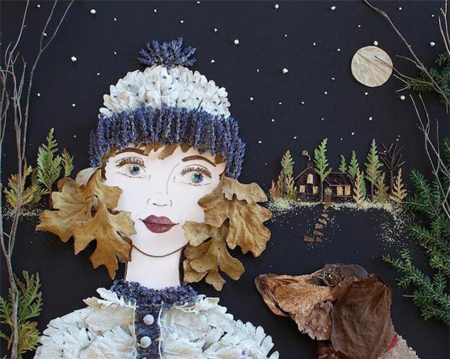 Ngắm bộ tranh chân dung gái đẹp được làm từ hoa cỏ mùa xuân - Ảnh 21.