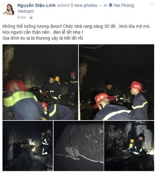 Nhà Hoa hậu Diệu Linh bị thiêu rụi đúng ngày 30 Tết - 1
