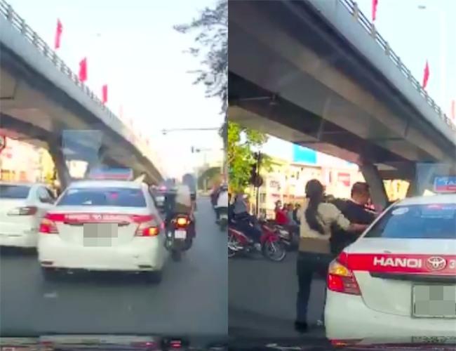 Người đàn ông chạy SH chặn xe taxi, dọa đánh tài xế vì không được tạt đầu - Ảnh 2.