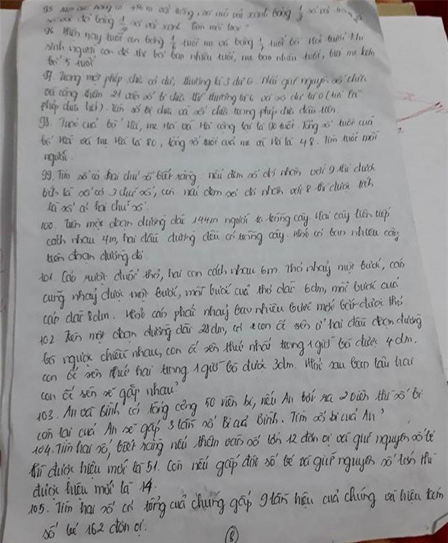 Cô giáo ra hơn 100 bài tập Tết cho học sinh lớp 3