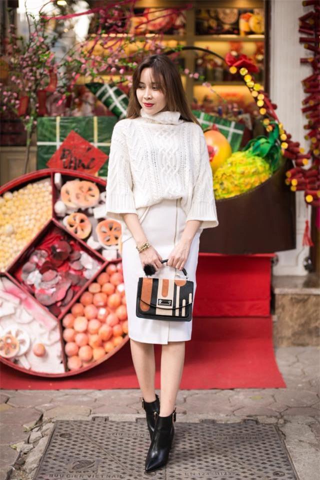Đâu chỉ có áo dài cách tân, street style đón Xuân của sao Việt còn rực rỡ thế này cơ mà! - Ảnh 7.