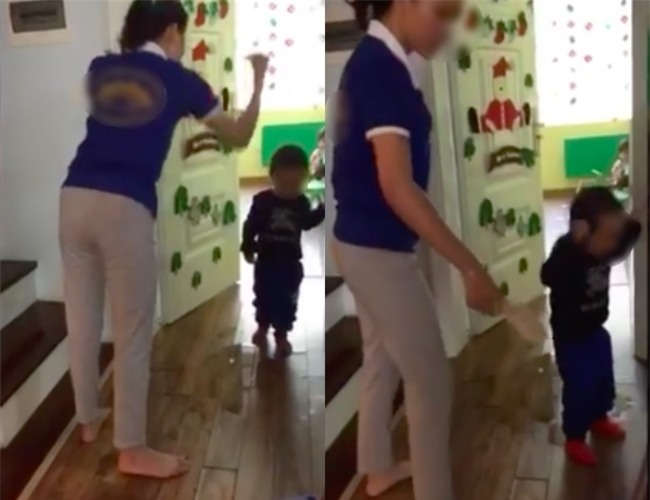 Cô giáo đánh trẻ tại trường MN Sen Vàng: Do cháu bé mới đi học và khóc quá nhiều - Ảnh 2.