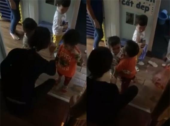Xuất hiện thêm clip cô giáo quát nạt, dí roi vào mặt trẻ được cho là ở trường MN Sen Vàng - Ảnh 2.