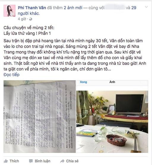Phi Thanh Vân tiết lộ chuyện chồng cũ đột nhập vào nhà, dùng dao dọa để cướp con - Ảnh 1.