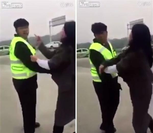 Đã vi phạm luật giao thông, người phụ nữ còn lăn ra đường ăn vạ để đòi công lý - Ảnh 3.