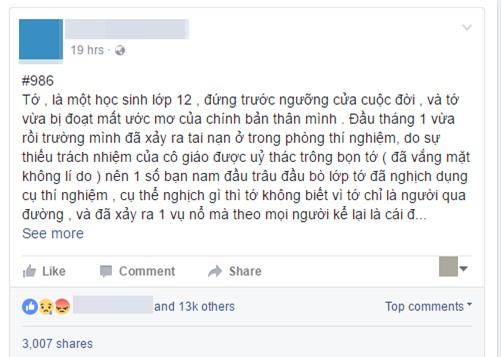 Confessions đau đớn của một nữ sinh trường THPT Phan Đình Phùng bị bỏng nặng vì bạn học gây nổ ở phòng thực hành Hóa - Ảnh 1.
