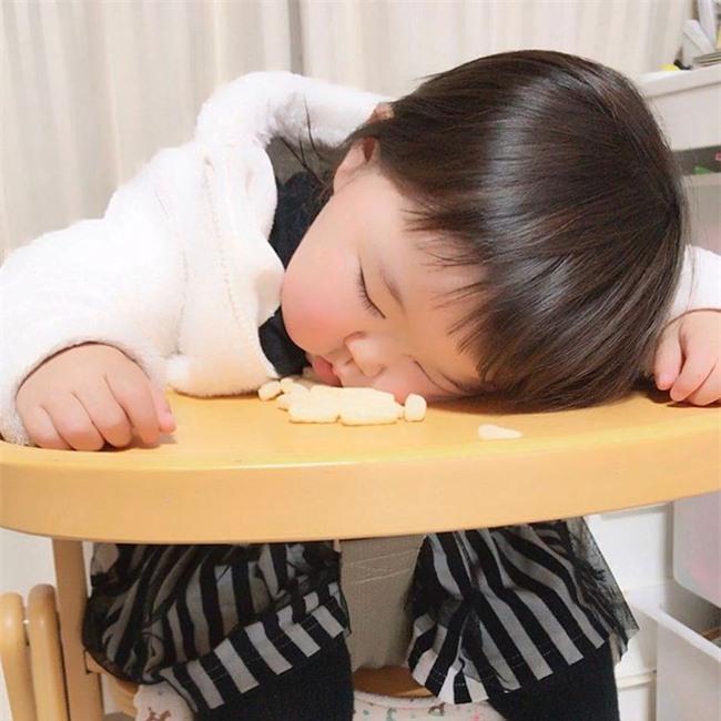Không chỉ ăn giỏi, bé 2 tuổi người Nhật còn có thể ngủ trên mọi địa hình khiến các mẹ mê mẩn - Ảnh 4.